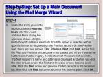 step by step set up a main document using the mail merge wizard12