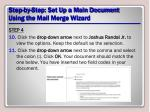 step by step set up a main document using the mail merge wizard15