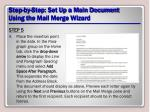 step by step set up a main document using the mail merge wizard18