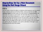 step by step set up a main document using the mail merge wizard20