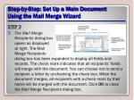 step by step set up a main document using the mail merge wizard9