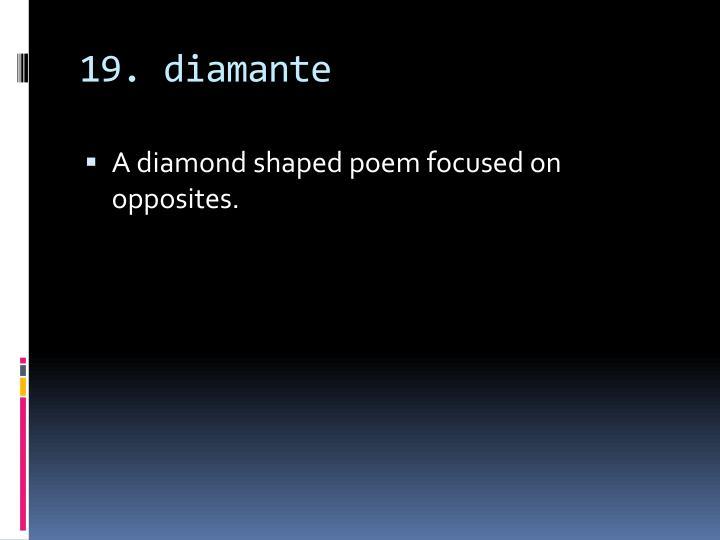 19. diamante