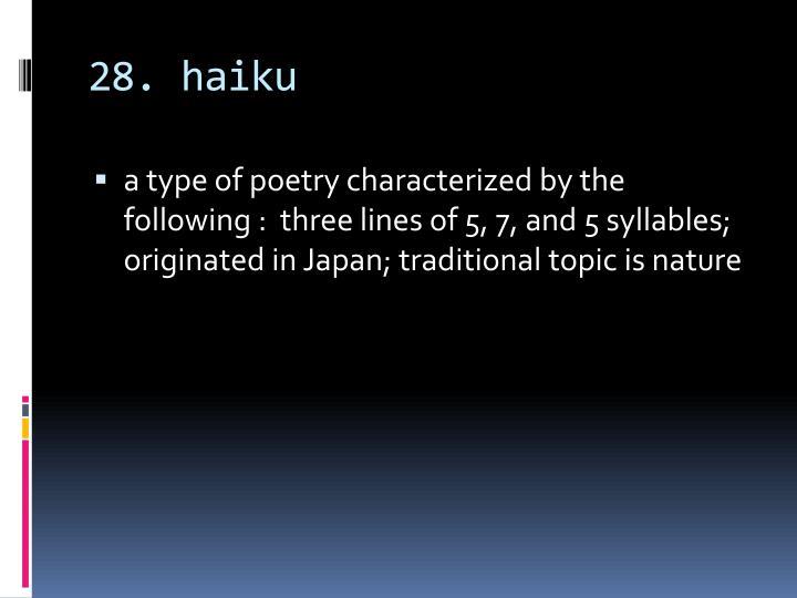 28. haiku