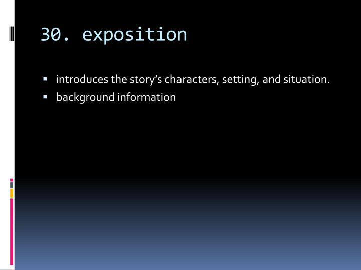 30. exposition