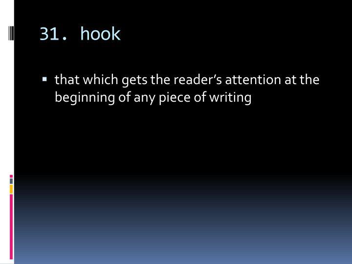 31. hook