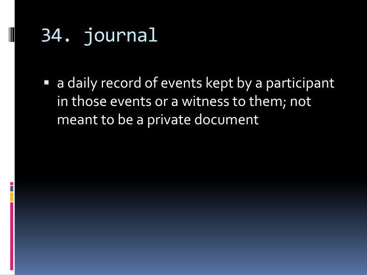 34. journal
