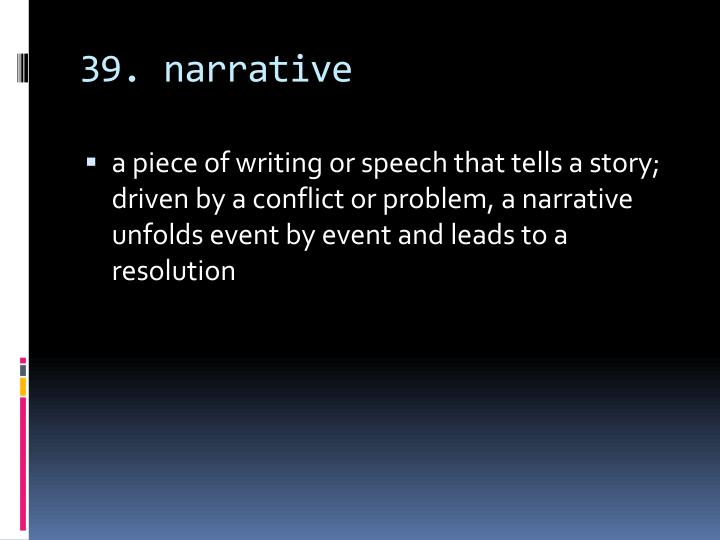 39. narrative