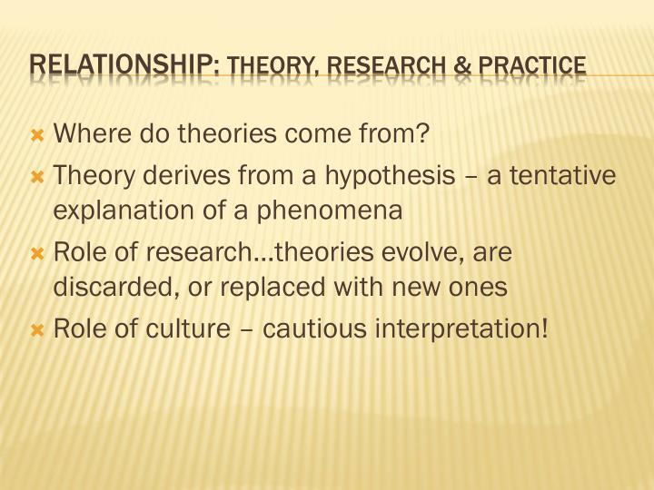 Where do theories come from?