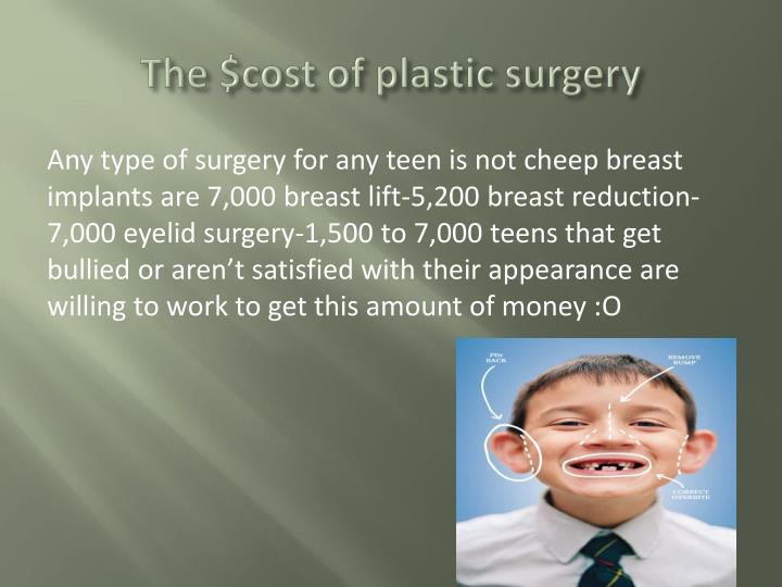 The $cost of plastic surgery