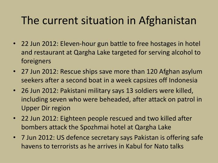 current situation in afghanistan The us combat mission in afghanistan officially ended in 2014 bases were shuttered, flags were lowered the war, to some, was officially over and yet, it goes on just a few months ago, top u.
