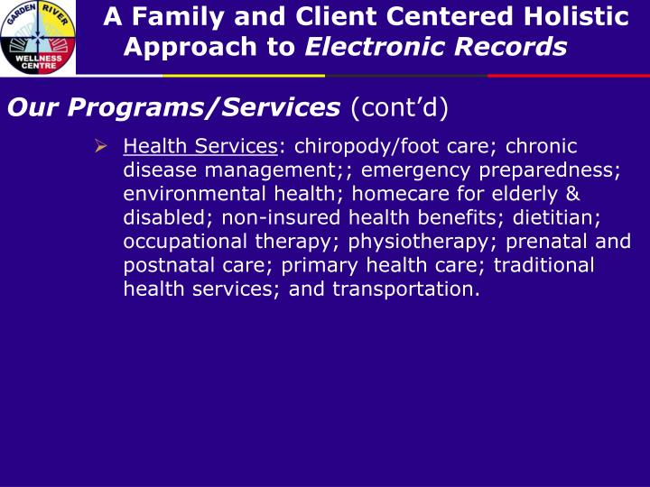 Our Programs/Services