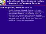 our programs services cont d