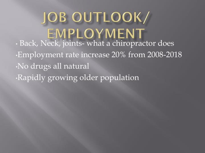 Job Outlook/ Employment