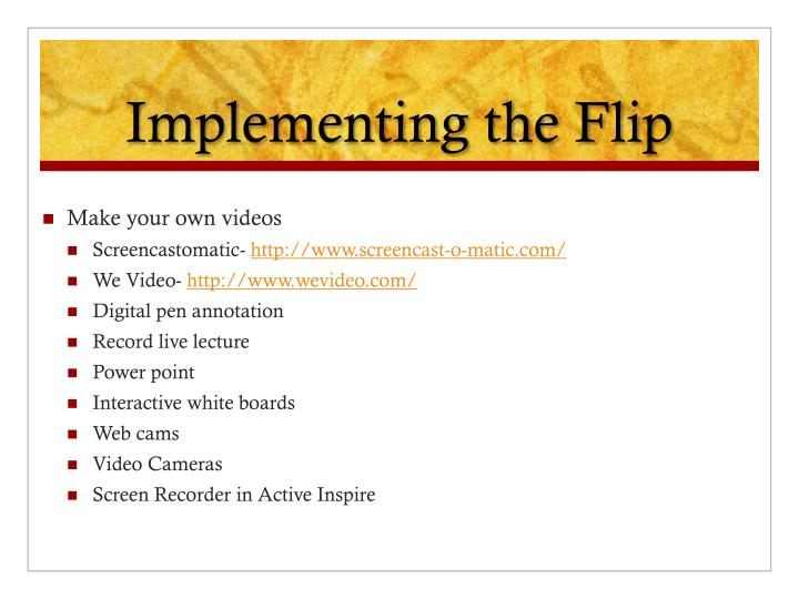 Implementing the Flip