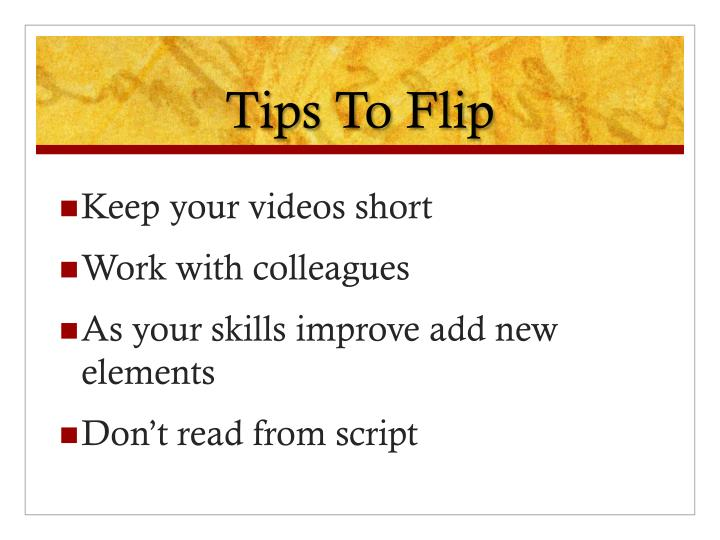 Tips To Flip