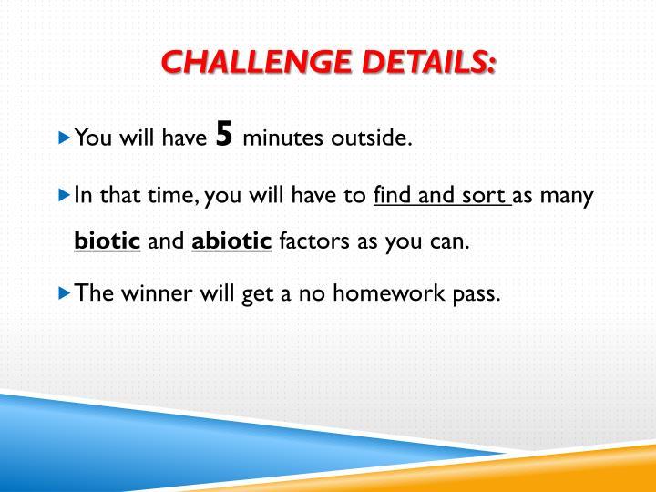 Challenge Details: