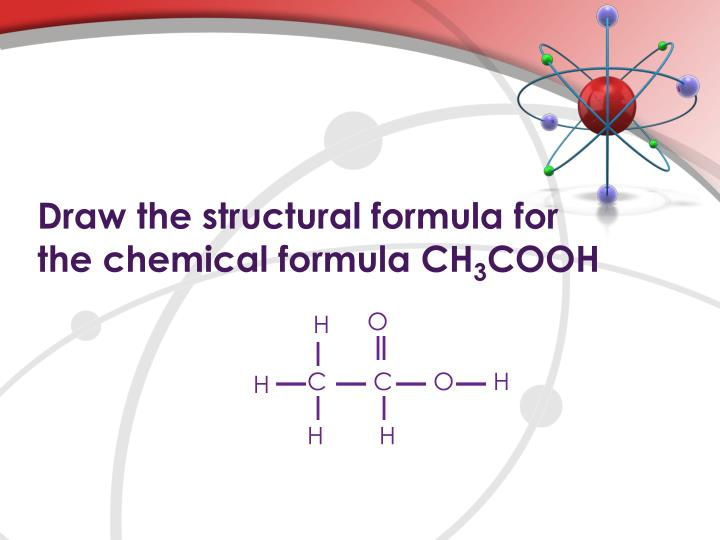 Draw the structural formula for
