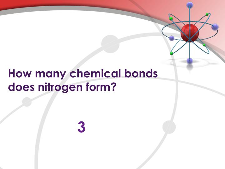 How many chemical bonds