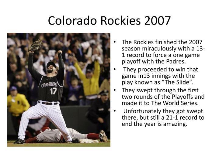 Colorado Rockies 2007