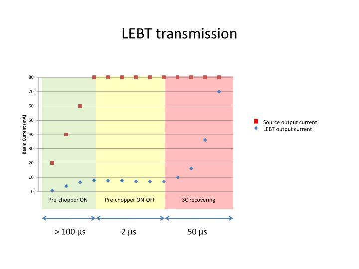 LEBT transmission