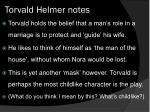 torvald helmer notes