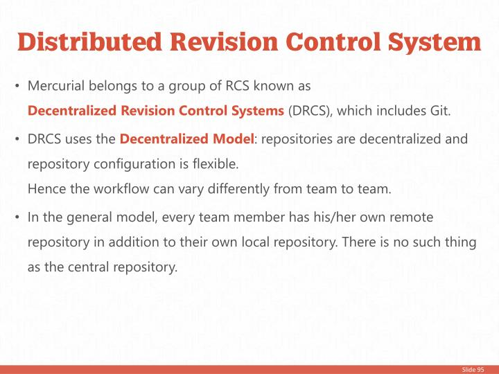 Distributed Revision Control System