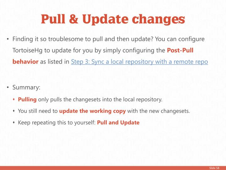 Pull & Update changes