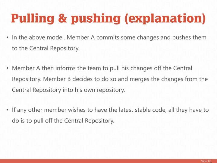 Pulling & pushing (explanation)