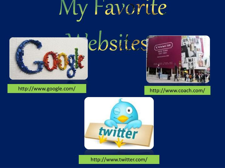 My Favorite Websites..