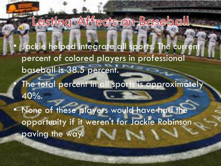 Lasting Affects on Baseball