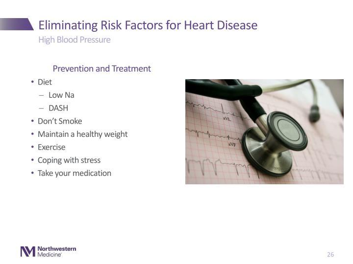 Eliminating Risk Factors for Heart Disease