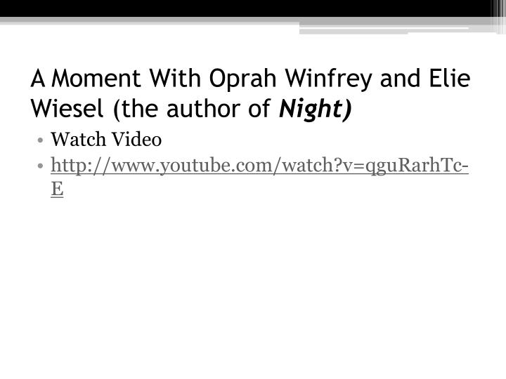 A Moment With Oprah Winfrey and