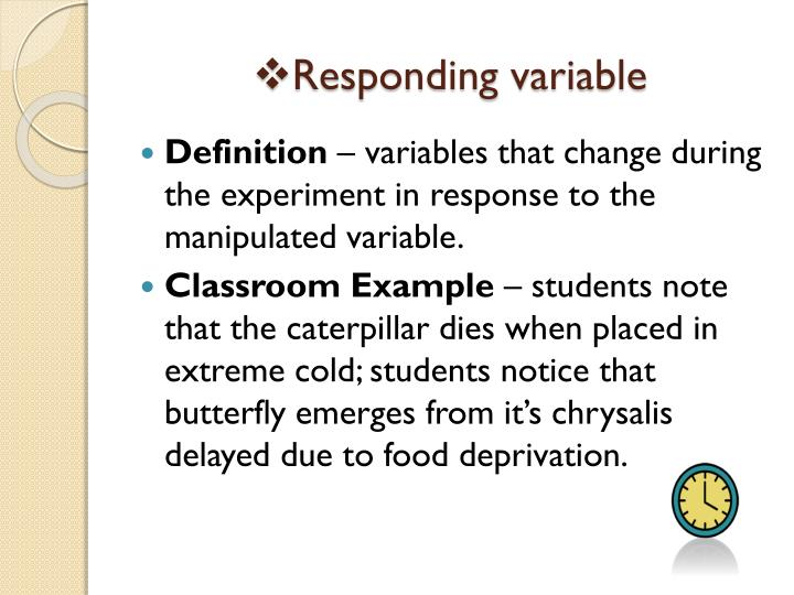 how to find the response variable