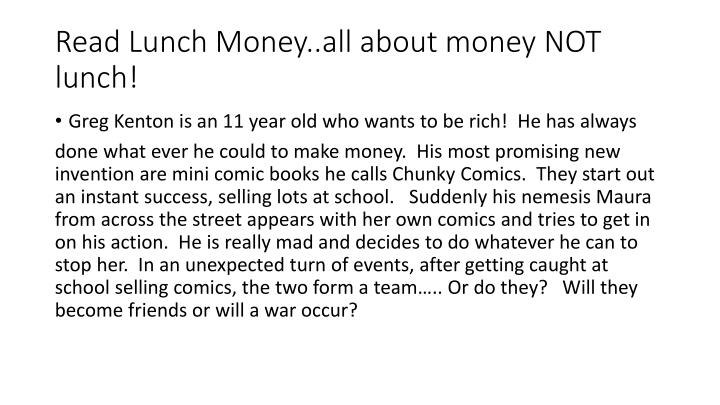 Read lunch m oney all about money not lunch
