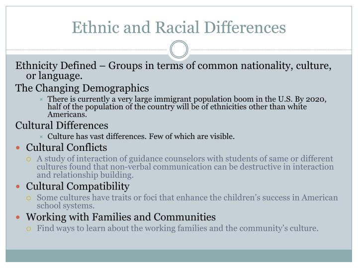 Ethnic and Racial Differences