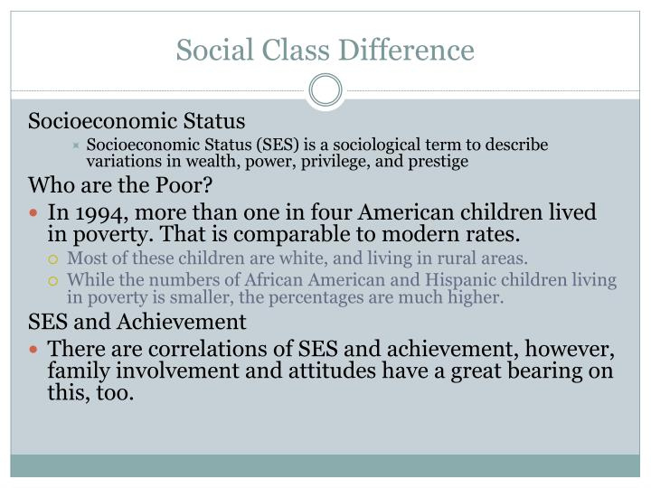 Social Class Difference