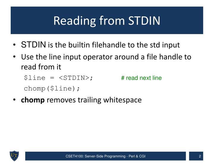 Reading from STDIN