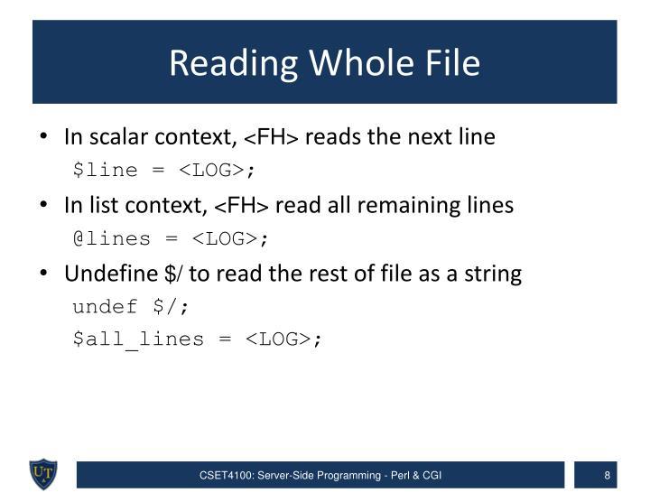 Reading Whole File