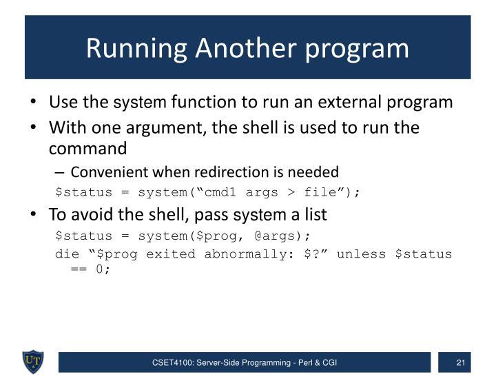 Running Another program