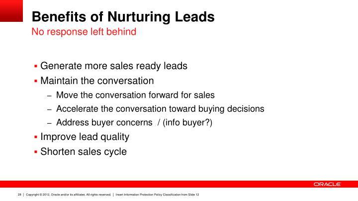 Benefits of Nurturing Leads