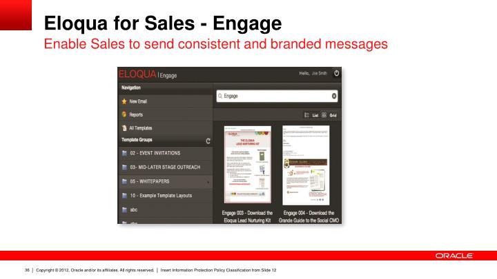 Eloqua for Sales - Engage