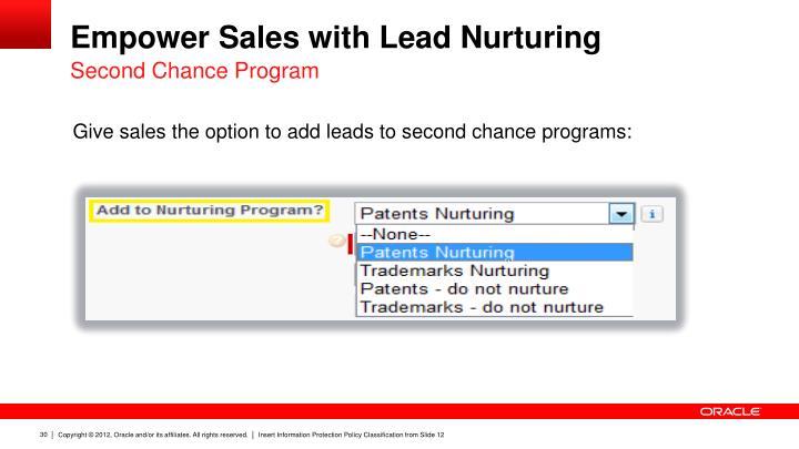 Empower Sales with Lead Nurturing