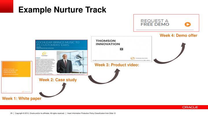Example Nurture Track