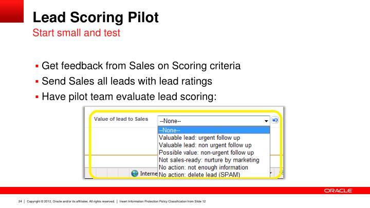 Lead Scoring Pilot