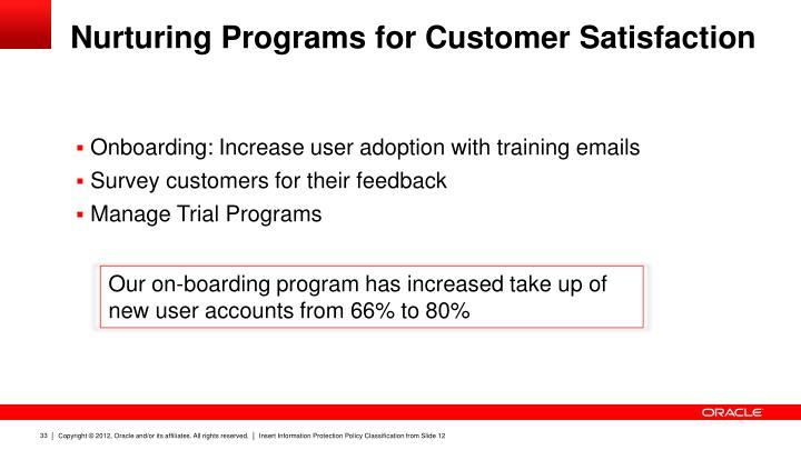Nurturing Programs for Customer Satisfaction