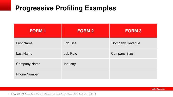 Progressive Profiling Examples