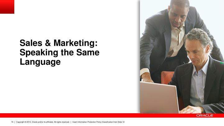Sales & Marketing: