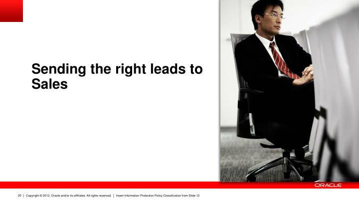 Sending the right leads to Sales