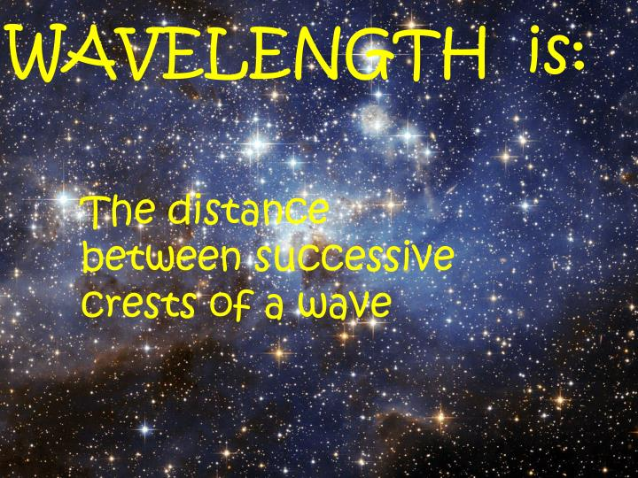 WAVELENGTH  is: