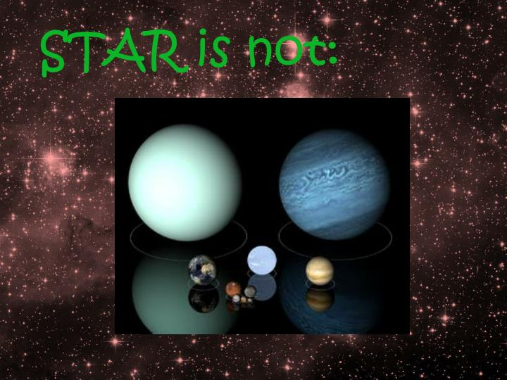 STAR is not: